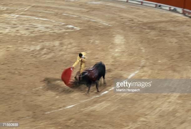 Matador fighting bull