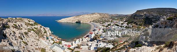 matala bay, crete - aegean sea stock pictures, royalty-free photos & images