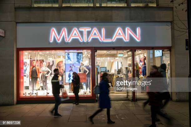 Matalan store seen in London famous Oxford street Central London is one of the most attractive tourist attraction for individuals whose willing to...