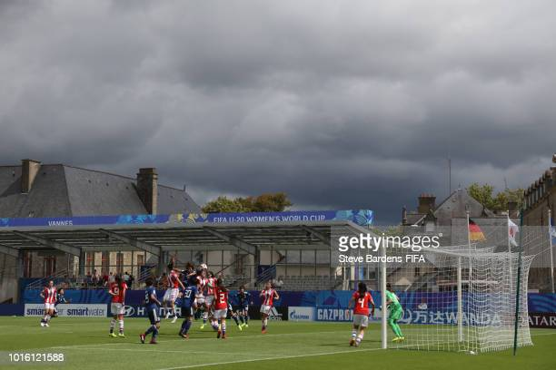 Match action during the FIFA U20 Women's World Cup France 2018 group C match between Japan and Paraguay at Stade de la Rabine on August 13 2018 in...