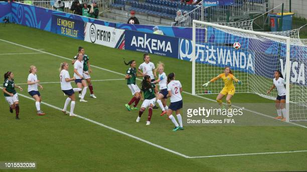 Match Action during the group B match between England and Mexico at Stade de Marville on August 12 2018 in SaintMalo France