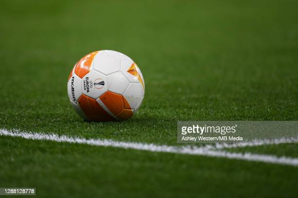 A match ball for the UEFA Europa League Group J stage match between Tottenham Hotspur and PFC Ludogorets Razgrad at Tottenham Hotspur Stadium on...