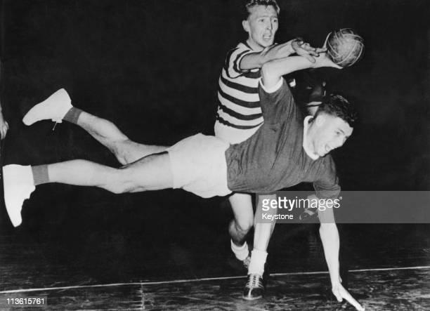 A match between Frisch Auf Goeppingen and Tgd Muenster during the National Handball tournament in Leipzig 1st December 1957 The score was 137...