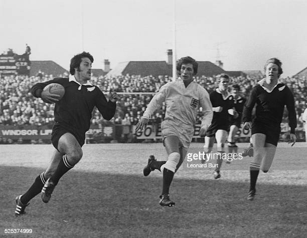 A match between the New Zealand national rugby union team the All Blacks and Western Counties at Gloucester 28th October 1972 The All Blacks won the...