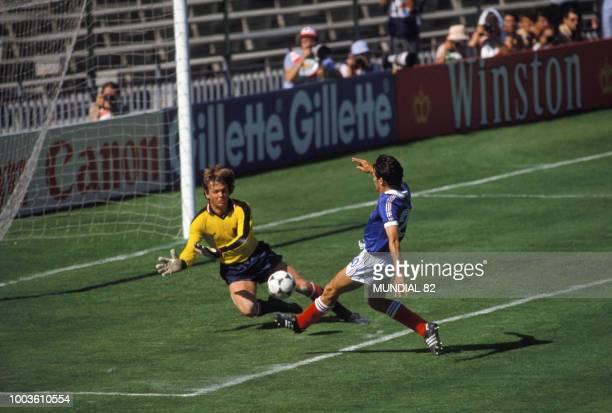 Match FranceAutriche lors de la Coupe du Monde le 28 juin 1982 en Espagne