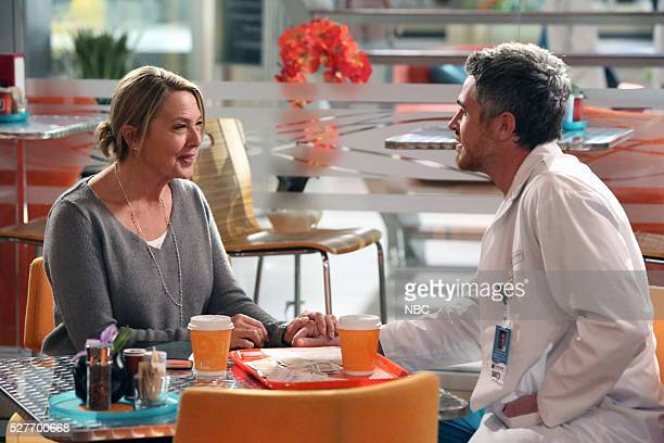 HEARTBEAT Match Game Episode 108 Pictured Brenda Bakke as Marie Panttiere Dave Annable as Dr Pierce Harrison