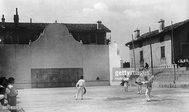 Match of pelota SaintJeandeLuz about 1910