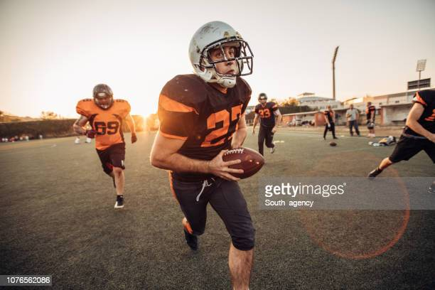 nfl match - guard american football player stock photos and pictures