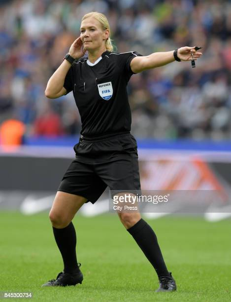 Match referee Bibiana Steinhaus during the game between Hertha BSC and Werder Bremen on September 10 2017 in Berlin Germany