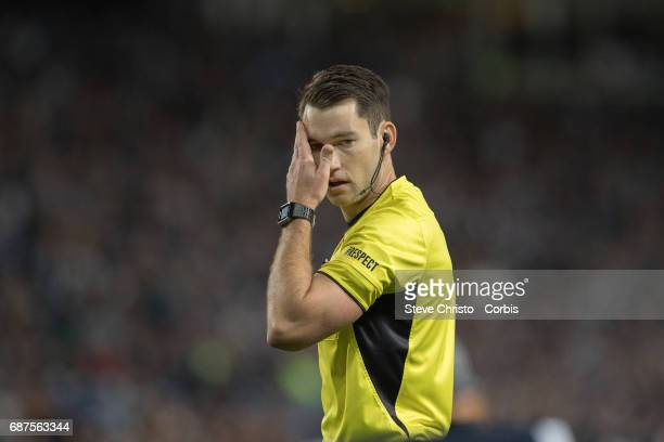 Match referee Jarred Gillett during the 2017 ALeague Grand Final match between Sydney FC and the Melbourne Victory at Allianz Stadium on May 7 2017...