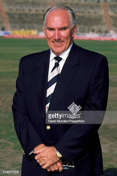 ICC Match Referee John Reid of New Zealand pictured in Calcutta circa January 1994