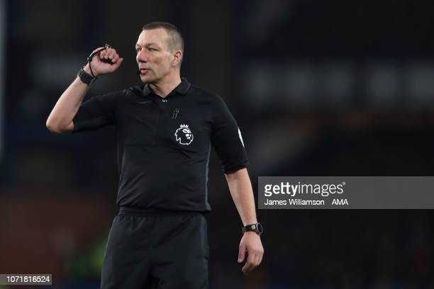 Match referee Kevin Friend during the Premier League match between Everton FC and Watford FC at Goodison Park on December 10 2018 in Liverpool United...