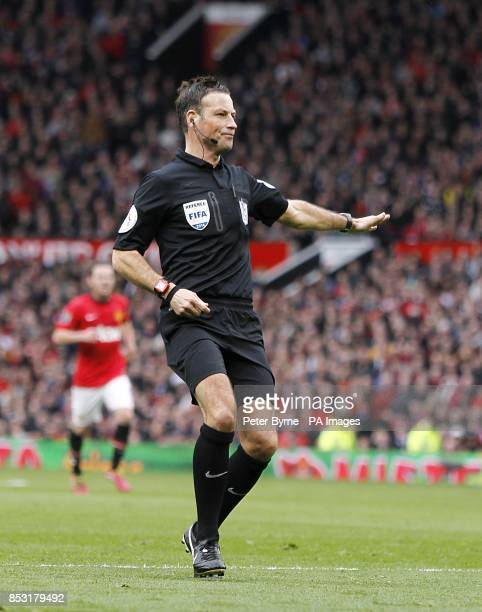 Match referee Mark Clattenburg awards a third penalty for Liverpool