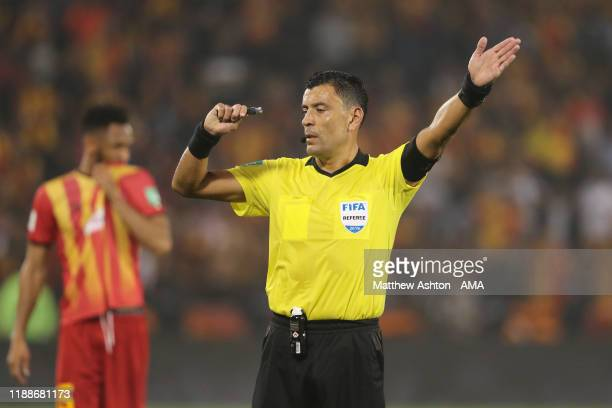 Match referee Roberto Tobar from Chile during the FIFA Club World Cup 2nd round match between Al Hilal and Esperance Sportive de Tunis at Jassim Bin...