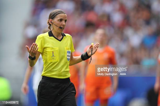 Match referee Stephanie Frappart of France during the 2019 FIFA Women's World Cup France Final match between Winner The United States of America and...