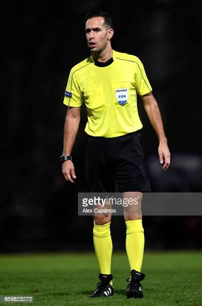 Match refereee Anastasios Papapetrou during the UEFA European Under 21 Championship Qualifier between Andorra U21 and England U21 on October 10 2017...