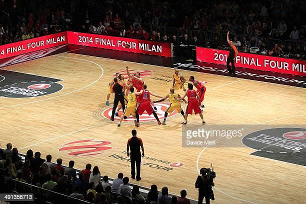 Match Tip Off during the Turkish Airlines EuroLeague Final Four Semi Final B between CSKA Moscow vs Maccabi Electra Tel Aviv at Mediolanum Forum on...
