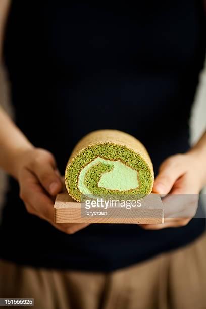 Matcha cake roll
