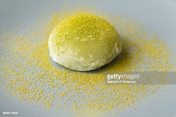 matcha foods - mochi stock photos and pictures