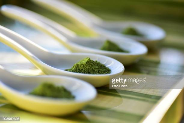 matcha green tea. - herbal medicine stock pictures, royalty-free photos & images