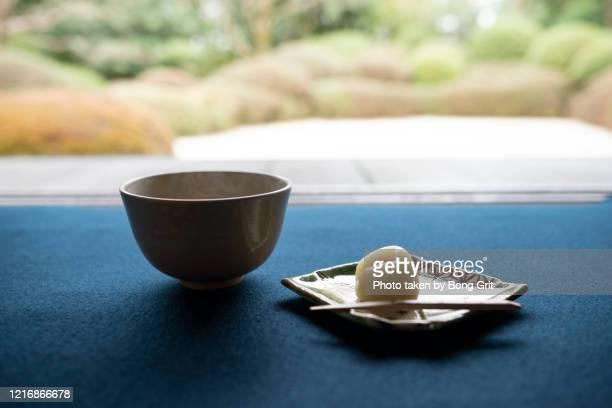 matcha tea set - 和菓子 ストックフォトと画像