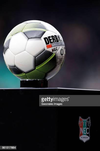 matchball during the Dutch Jupiler League match between NEC Nijmegen v Telstar at the Goffert Stadium on April 2 2018 in Nijmegen Netherlands