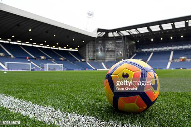 A matchball is seen prior to the Premier League match between West Bromwich Albion and Watford at The Hawthorns on December 3 2016 in West Bromwich...