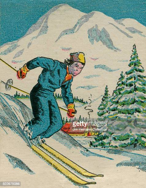 Matchbook image of skier skiing down mountain