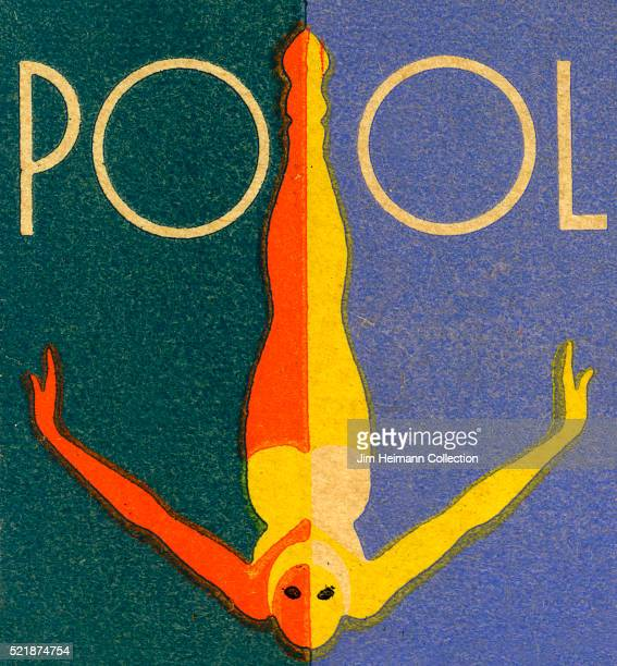 Matchbook image of woman swimming in pool