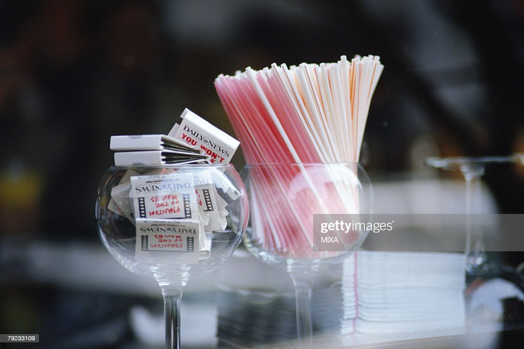Matches and straws : Stock Photo