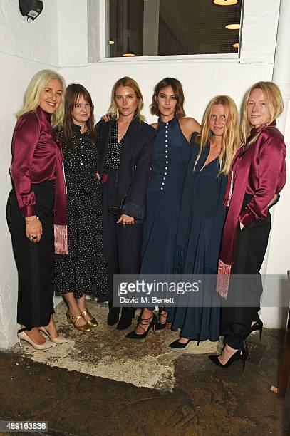Matches co-founder Ruth Chapman, Leith Clark, Dree Hemingway, Alexa Chung, Katie Hillier and Luella Bartley attend a private dinner hosted by...