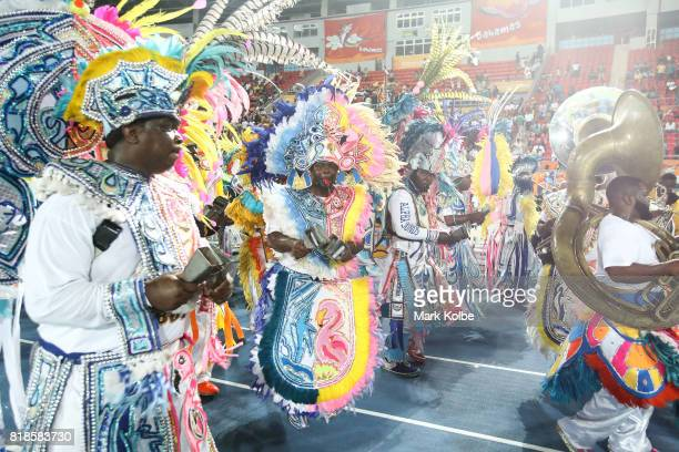 Matching band performers Junkanoo dance during the 2017 Youth Commonwealth Games Opening Ceremony on day 1 of the 2017 Youth Commonwealth Games at...
