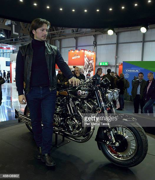 Matchless Chairman Franco Malenotti attend the Matchless Official Presentation of the model X Reloaded during the EICMA 2014 72th International...