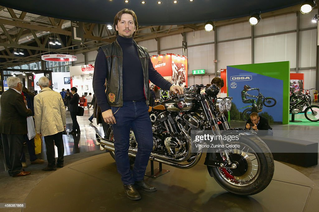 Matchless Managing Director Michele Malenotti attends the Matchless Official Presentation of the model X Reloaded on November 4, 2014 in Milan, Italy.