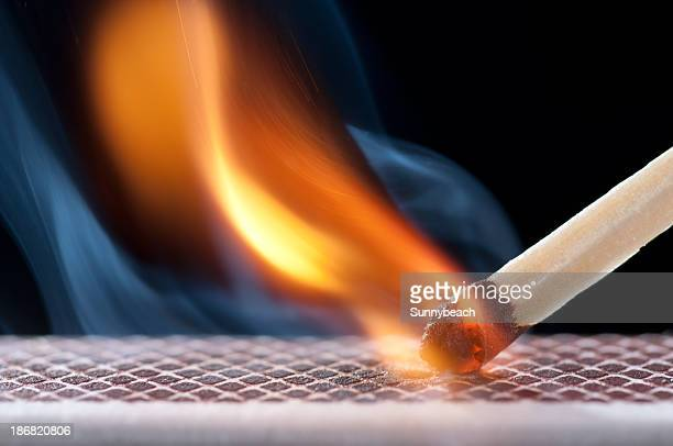 matchsticks - burning stock pictures, royalty-free photos & images