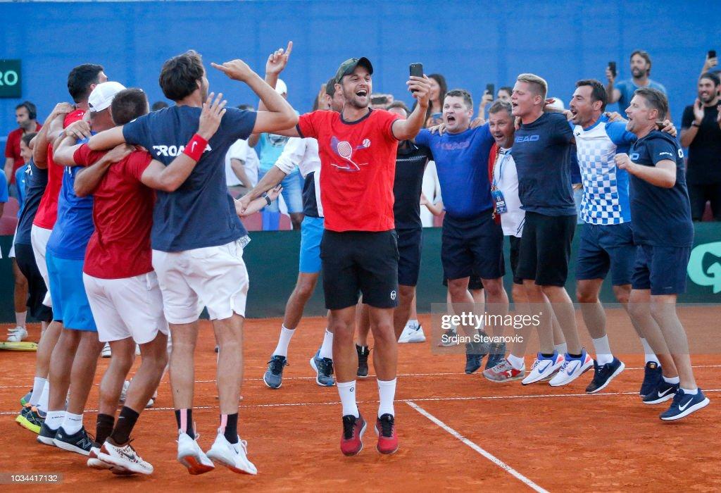 Croatia v USA - Davis Cup by BNP Paribas World Group Semi Final: Day Three : News Photo