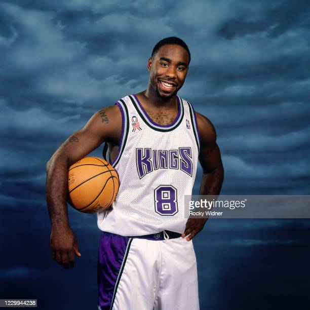Mateen Cleaves of the Sacramento Kings poses for a photo at the Arco Arena in Sacramento, California circa 2002 . NOTE TO USER: User expressly...
