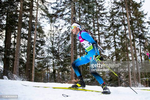 Matej Baloga of Slovakia in action competes during the Men 20 km Individual Competition at the IBU Open European Championships Duszniki Zdroj at on...