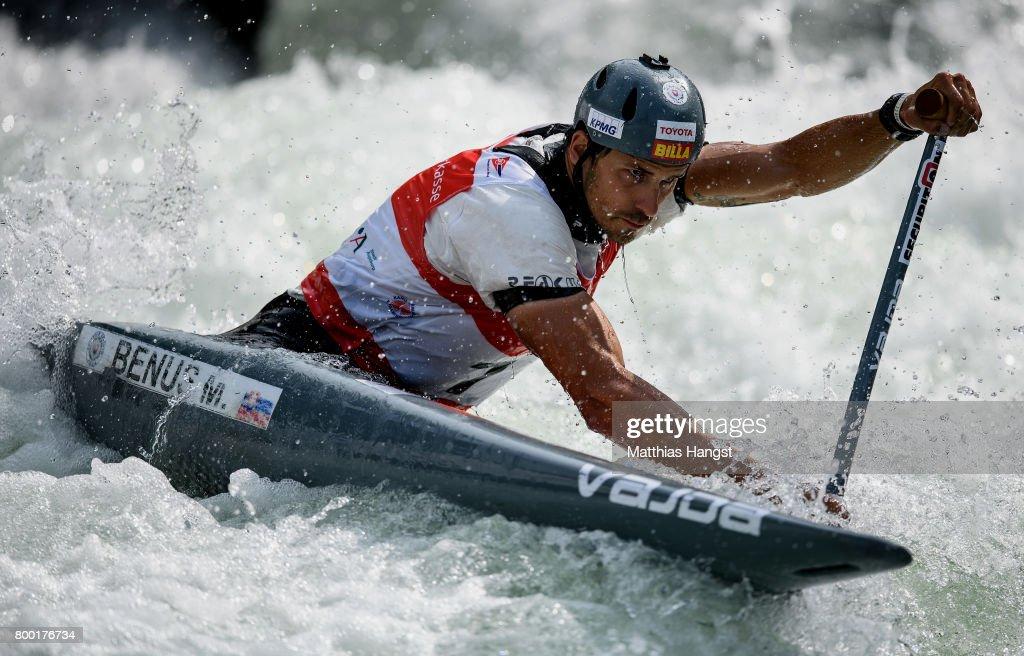 Matej Benus Of Slovakia Competes During The Canoe Single