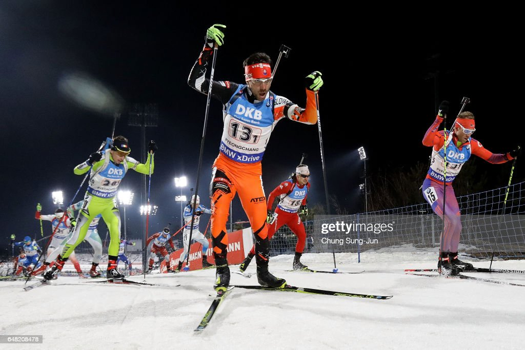 Matej Kazar of Slovakia competes in the Men's 4x7.5km Relay during the BMW IBU World Cup Biathlon 2017 - test event for PyeongChang 2018 Winter Olympic Games at Alpensia Biathlon Centre on March 5, 2017 in Pyeongchang-gun, South Korea.