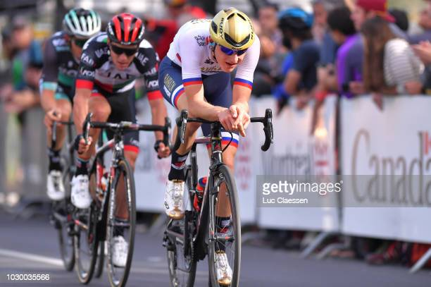 Matej Mohoric of Slovenia and Bahrain Merida Pro Cycling Team / during the 9th Grand Prix Cycliste de Montreal 2018 a 1952km race from Montreal to...