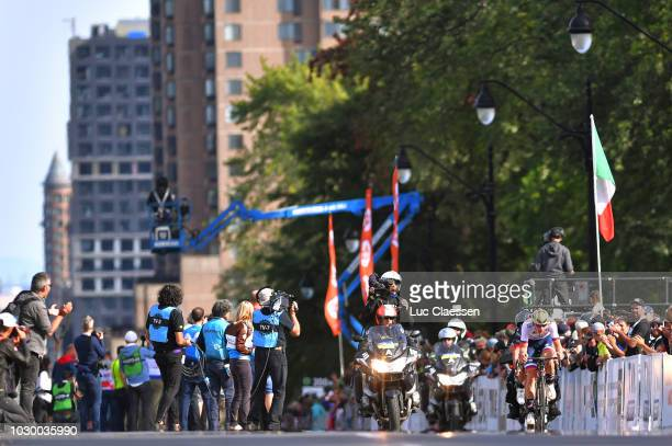 Matej Mohoric of Slovenia and Bahrain Merida Pro Cycling Team / Landscape / during the 9th Grand Prix Cycliste de Montreal 2018 a 1952km race from...