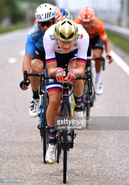 Matej Mohoric of Slovenia and Team Bahrain - Merida / during the 14th BinckBank Tour 2018, Stage 3 a174,9km stage from Aalter to Antwerpen / BBT / on...