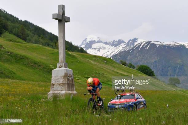 Matej Mohoric of Slovenia and Team Bahrain - Merida / Mountains / Snow / during the 83rd Tour of Switzerland, Stage 8 a 19,2km Individual Time Trial...