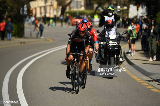 Matej Mohoric of Slovenia and Team Bahrain Victorious & Thomas De Gendt of Belgium and Team Lotto Soudal during the 100th Volta Ciclista a Catalunya...