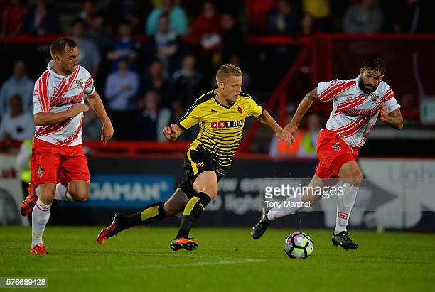 Matej Vydra during the PreSeason Friendly match between Stevenage and Watford at The Lamex Stadium on July 14 2016 in Stevenage England