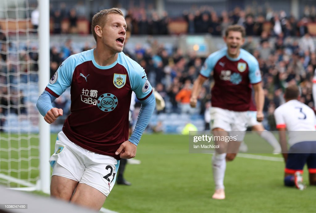 Matej Vydra Of Burnley Celebrates After He Scores The