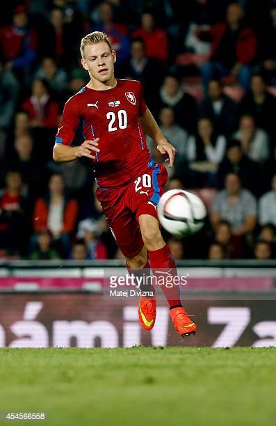 Matej Vydra of Czech Republic in action during the international friendly match between Czech Republic and USA on September 3 2014 in Prague Czech...