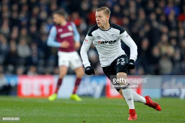 Matej Vydra of Derby County during the Sky Bet Championship match between Derby County and Aston Villa at iPro Stadium on December 16 2017 in Derby...