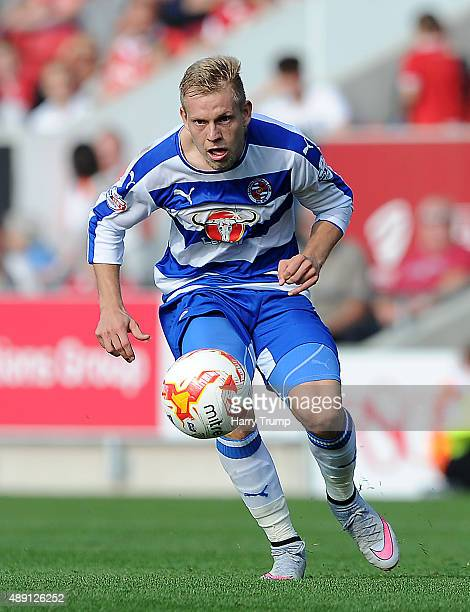 Matej Vydra of Reading during the Sky Bet Championship match between Bristol City and Reading at Ashton Gate on September 19 2015 in Bristol England